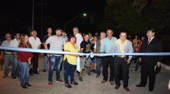 Cipolini inauguró pavimento e iluminación en el barrio San Martín