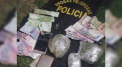 Detuvieron a cuatro personas que circulaban con marihuana y dinero en Sáenz Peña
