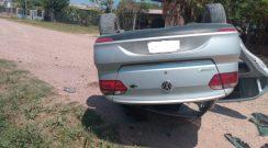 Sáenz Peña: Volcó un automóvil y su conductor debió ser hospitalizado