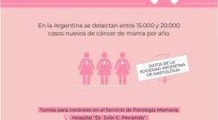 Día mundial contra el cáncer de mama: profesionales remarcan la importancia de los controles periódicos