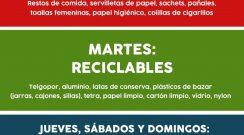 El cronograma de Recolección de Residuos no sufre modificaciones en la semana del 21 al 27 de junio